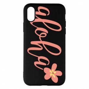 Etui na iPhone X/Xs Aloha tropic flower