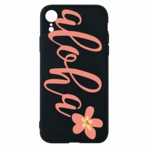 Etui na iPhone XR Aloha tropic flower