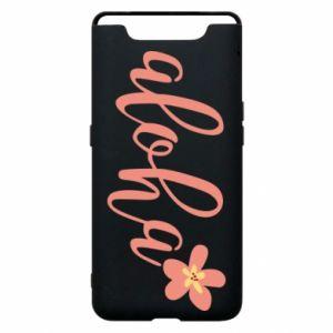 Etui na Samsung A80 Aloha tropic flower