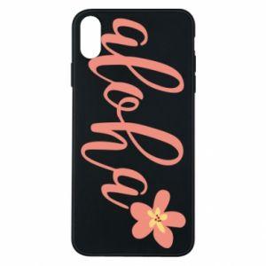 Etui na iPhone Xs Max Aloha tropic flower