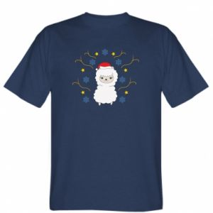 T-shirt Alpaca in the Snowflakes