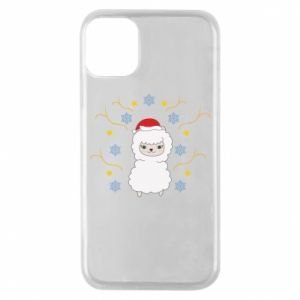 Phone case for iPhone 11 Pro Alpaca in the Snowflakes