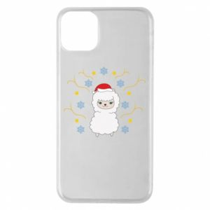 iPhone 11 Pro Max Case Alpaca in the Snowflakes