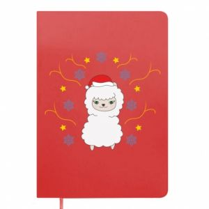 Notepad Alpaca in the Snowflakes