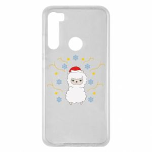 Xiaomi Redmi Note 8 Case Alpaca in the Snowflakes