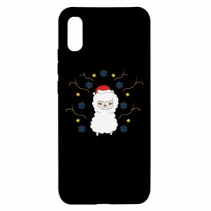 Xiaomi Redmi 9a Case Alpaca in the Snowflakes