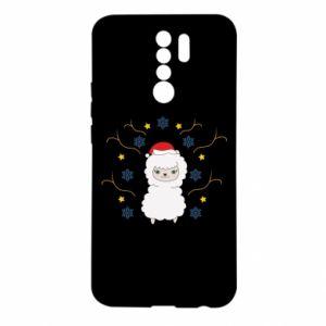 Xiaomi Redmi 9 Case Alpaca in the Snowflakes