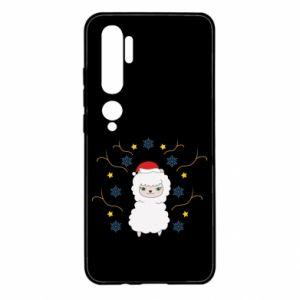 Xiaomi Mi Note 10 Case Alpaca in the Snowflakes