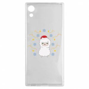 Sony Xperia XA1 Case Alpaca in the Snowflakes