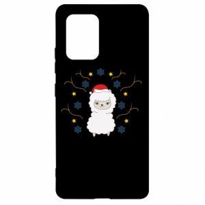 Samsung S10 Lite Case Alpaca in the Snowflakes