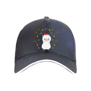 Cap Alpaca in the Snowflakes