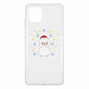 Samsung Note 10 Lite Case Alpaca in the Snowflakes