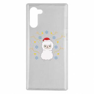 Samsung Note 10 Case Alpaca in the Snowflakes