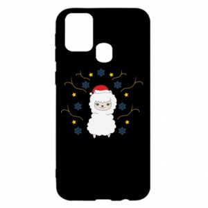 Samsung M31 Case Alpaca in the Snowflakes