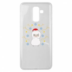 Samsung J8 2018 Case Alpaca in the Snowflakes