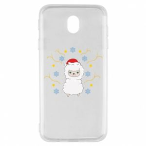 Samsung J7 2017 Case Alpaca in the Snowflakes