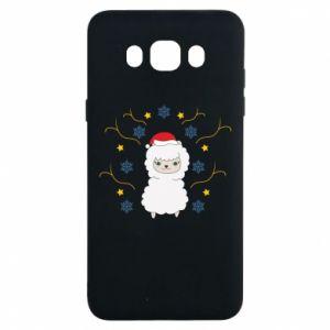 Samsung J7 2016 Case Alpaca in the Snowflakes