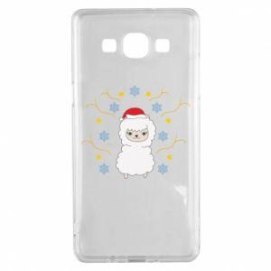 Samsung A5 2015 Case Alpaca in the Snowflakes