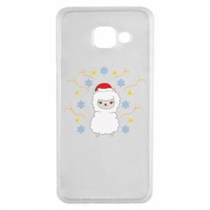 Samsung A3 2016 Case Alpaca in the Snowflakes