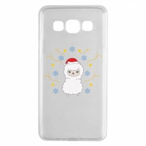 Samsung A3 2015 Case Alpaca in the Snowflakes