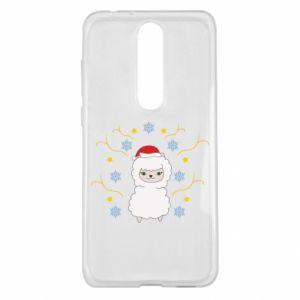 Nokia 5.1 Plus Case Alpaca in the Snowflakes