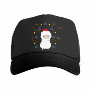 Trucker hat Alpaca in the Snowflakes
