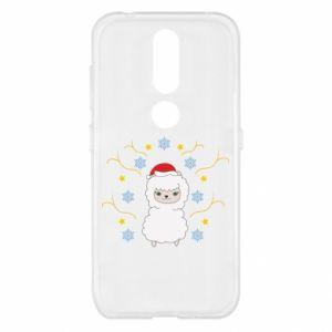 Nokia 4.2 Case Alpaca in the Snowflakes