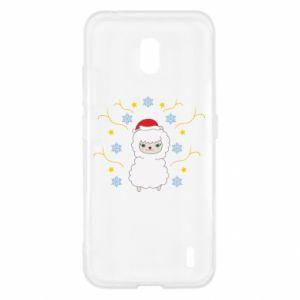 Nokia 2.2 Case Alpaca in the Snowflakes