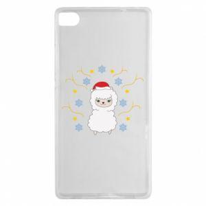 Huawei P8 Case Alpaca in the Snowflakes