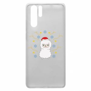 Huawei P30 Pro Case Alpaca in the Snowflakes