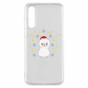 Huawei P20 Pro Case Alpaca in the Snowflakes