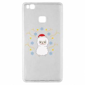 Huawei P9 Lite Case Alpaca in the Snowflakes