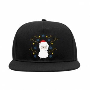 SnapBack Alpaca in the Snowflakes