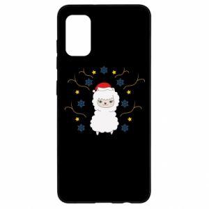 Samsung A41 Case Alpaca in the Snowflakes