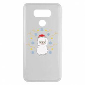 LG G6 Case Alpaca in the Snowflakes