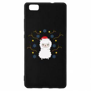 Huawei P8 Lite Case Alpaca in the Snowflakes