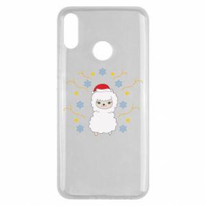 Huawei Y9 2019 Case Alpaca in the Snowflakes