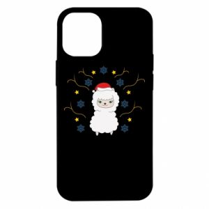 Etui na iPhone 12 Mini Alpaka w płatkach śniegu