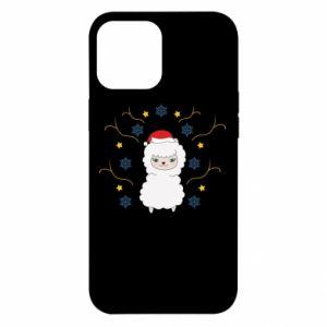 Etui na iPhone 12 Pro Max Alpaka w płatkach śniegu