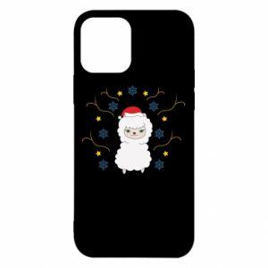 Etui na iPhone 12/12 Pro Alpaka w płatkach śniegu