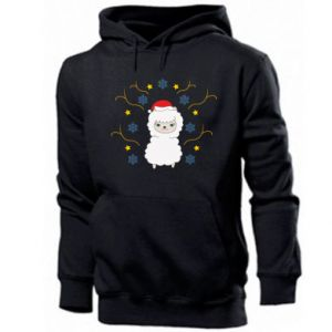 Men's hoodie Alpaca in the Snowflakes