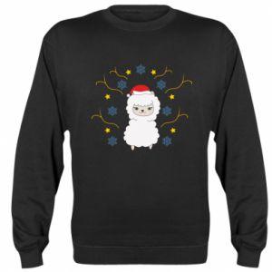 Sweatshirt Alpaca in the Snowflakes