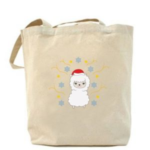 Bag Alpaca in the Snowflakes