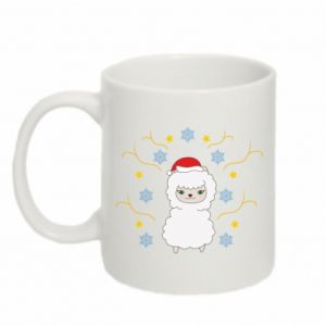 Mug 330ml Alpaca in the Snowflakes