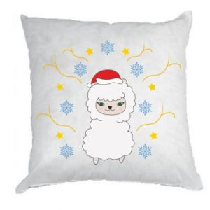Pillow Alpaca in the Snowflakes