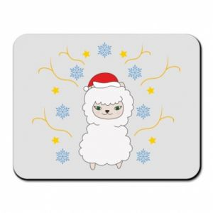 Mouse pad Alpaca in the Snowflakes