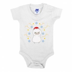 Baby bodysuit Alpaca in the Snowflakes
