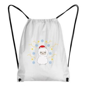Backpack-bag Alpaca in the Snowflakes