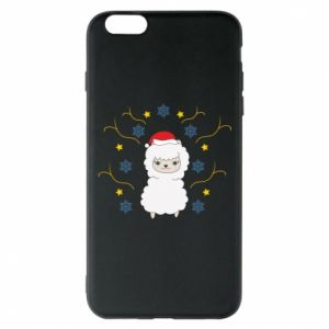 Phone case for iPhone 6 Plus/6S Plus Alpaca in the Snowflakes