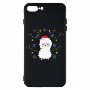 Phone case for iPhone 7 Plus Alpaca in the Snowflakes